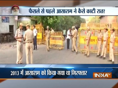 Judge reached Jodhpur Central Jail, verdict on Asaram to be pronounced shortly