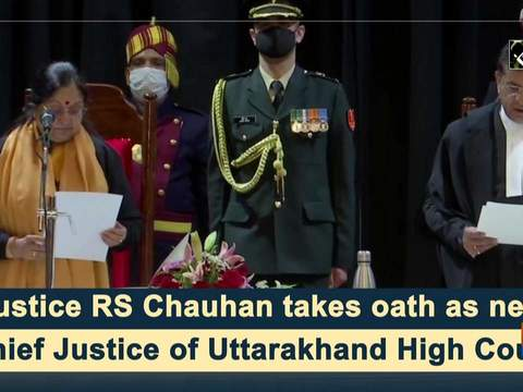 Justice RS Chauhan takes oath as new Chief Justice of Uttarakhand High Court