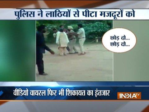 Cops caught on camera beating up elderly woman in Punjab's Bathinda