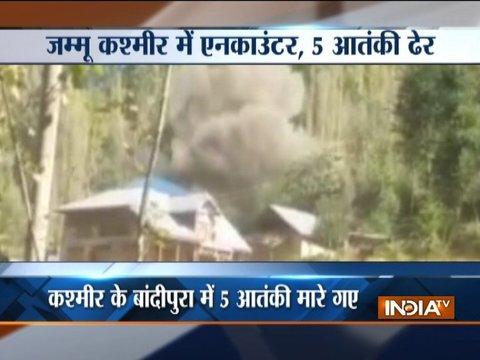 जम्मू-कश्मीर: बांदीपोरा में 5 आतंकवादियों को सुरक्षाबलों ने मौत के घाट उतारा