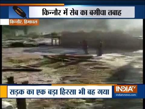 देखिये कैसे हिमाचल के किन्नौर में बाढ़ ने बरपाया कहर
