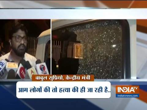West Bengal: BJP leader Babul Supriyo's car allegedly attacked by TMC workers