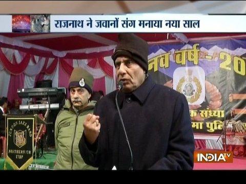 Rajnath Singh visits Indo-Tibetan border police battalion on New Year's eve