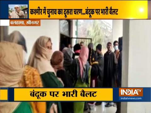 Jammu & Kashmir: Polling underway in the second phase of District Development Council elections