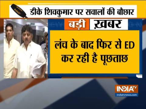 DK Shivakumar appears before ED for second consecutive day of questioning in money laundering case