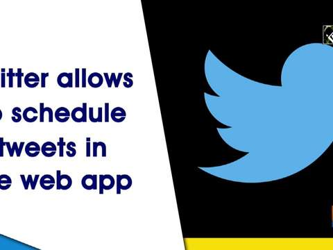 Twitter allows to schedule tweets in the web app