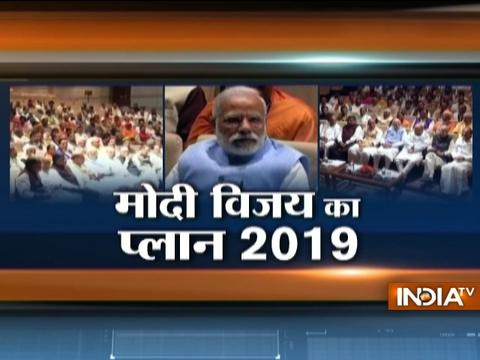 PM Modi gets a huge welcome by his party members during BJP Parliamentary Board meeting