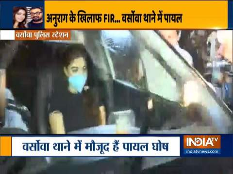 Actress Payal Ghosh reaches Varsova police station to file FIR against Anurag Kashyap