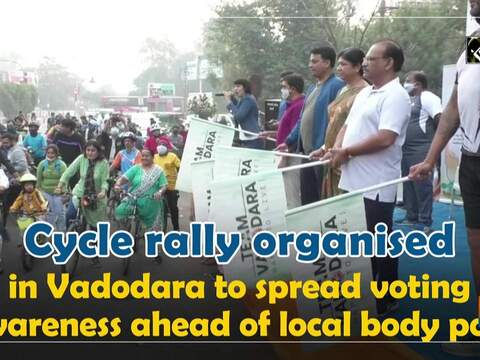 Cycle rally organised in Vadodara to spread voting awareness ahead of local body polls
