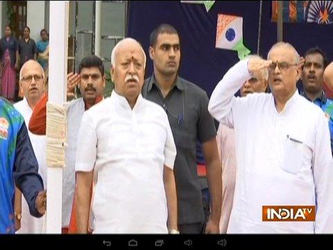 Political leaders hoist national flag on 72nd Independence Day