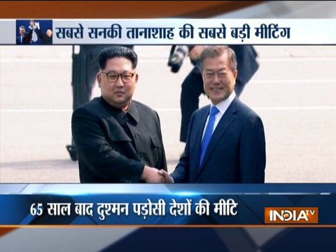 Kim Jong Un makes history, crosses border to meet rival Moon Jae-in for historic talks
