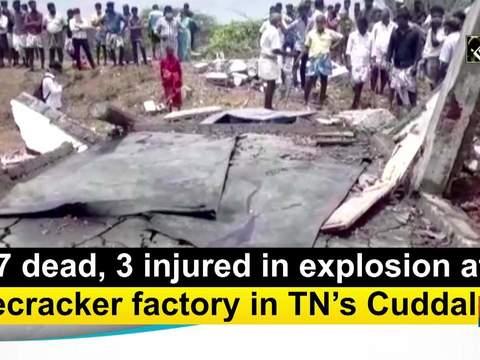 7 dead, 3 injured in explosion at firecracker factory in TN's Cuddalore