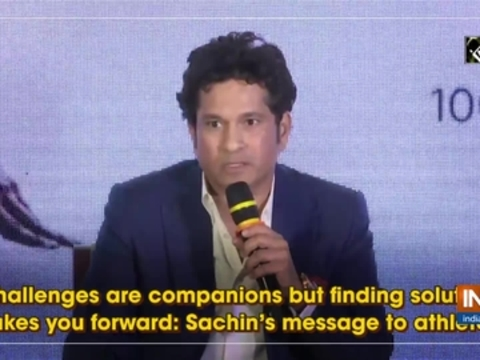 Challenges are companions but finding solutions takes you forward: Sachin's message to athletes