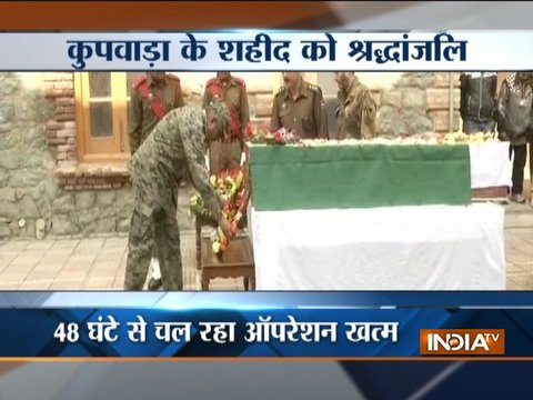 Army pays tribute to Kupwara martyr Deepak Thusoo in Srinagar