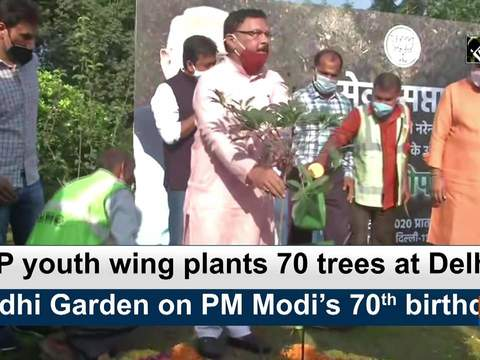 BJP youth wing plants 70 tress at Delhi's Lodhi Garden on PM Modi's 70th birthday