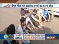 Students protest outside CBSE office in Delhi's Preet Vihar