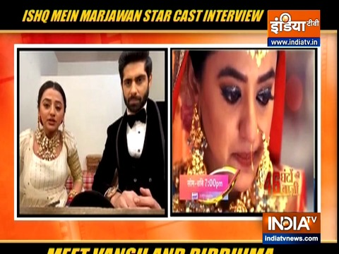 Rrahul Sudhir and Helly Shah on Ishq Mein Marjawan 2