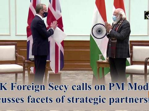 UK Foreign Secy calls on PM Modi, discusses facets of strategic partnership