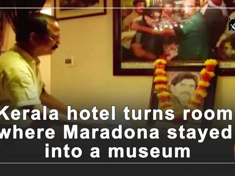 Kerala hotel turns room where Maradona stayed into a museum