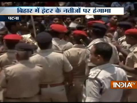 Violent protest by students after 64 Percent students fail in Bihar Class 12th Exams