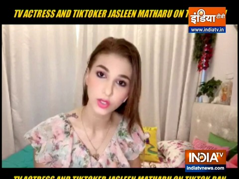 Tik Tok star Jasleen Matharu reacts to the ban of chinese apps