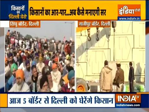 Farmers protest day 5: Protestors threaten to gherao Delhi