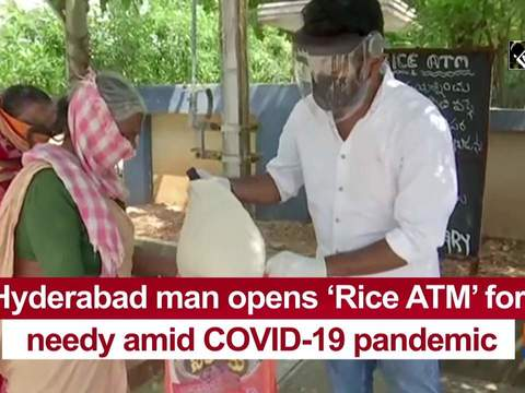 Hyderabad man opens 'Rice ATM' for needy amid COVID-19 pandemic
