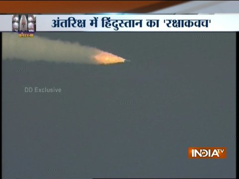 ISRO launches GSLV-F08 carrying the GSAT6A communication satellite from Sriharikota
