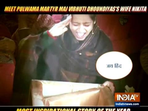 पुलवामा शहीद Vibhuti Dhoundiyal की पत्नी Nikita Kaul Dhoundiyal भारतीय सेना में होंगी शामिल |