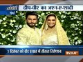 Deepika Padukone, Ranveer Singh look royal during their Mumbai weddding reception