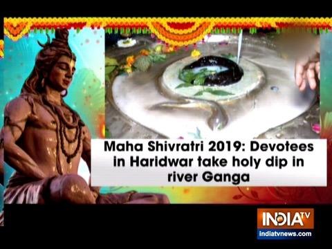 Maha Shivratri 2019: Devotees in Haridwar take holy dip in river Ganga