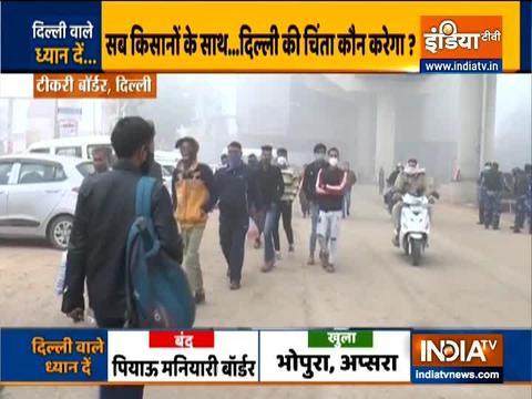 Delhi borders closed: Traffic woes continue as Tikri, Sindhu borders closed