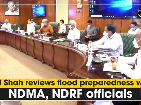 HM Shah reviews flood preparedness with NDMA, NDRF officials