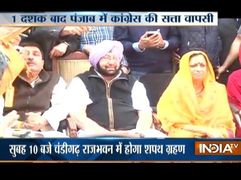 Assembly Polls: Captain Amarinder Singh to Take Oath as Punjab CM Today