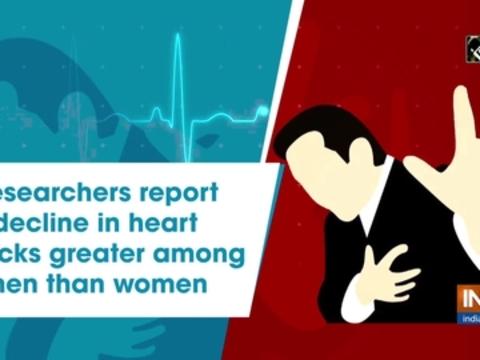 Researchers report decline in heart attacks greater among men than women
