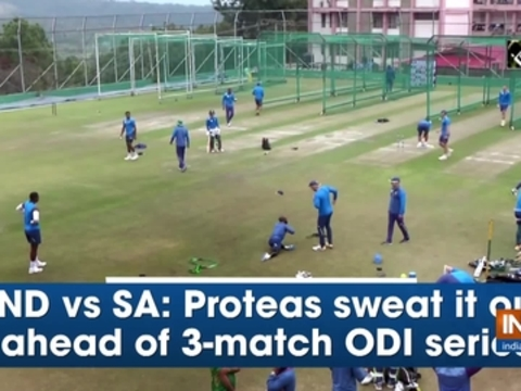 IND vs SA: Proteas sweat it out ahead of 3-match ODI series