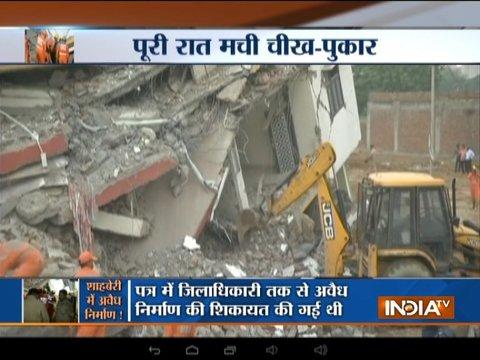 ग्रेटर नोएडा के शाहबेरी में 2 इमारतें गिरी, दो लोगों की मौत