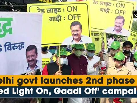 Delhi govt launches 2nd phase of 'Red Light On, Gaadi Off' campaign