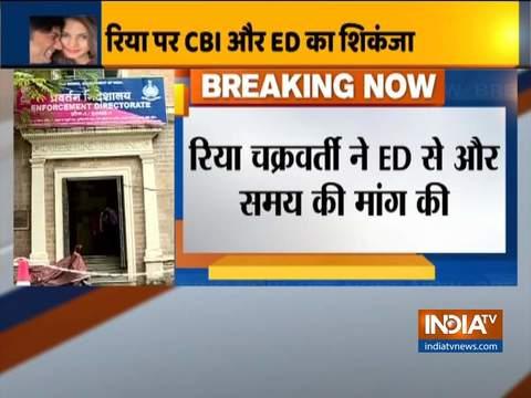 रिया चक्रवर्ती ने अनुरोध किया है कि उनके बयान की रिकॉर्डिंग सुप्रीम कोर्ट की सुनवाई तक के लिए टाल दी जाए