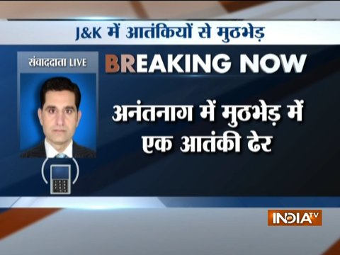 JK: One terrorist killed in encounter with security personnel in Anantnag
