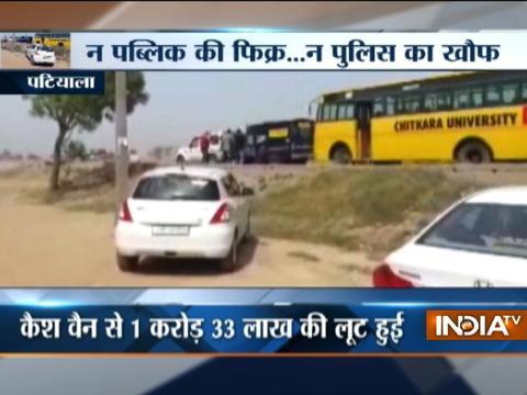 Armed robbers loot cash-van at Chandigarh-Patiala highway