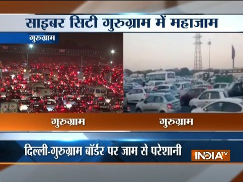Gurugram: Route diversion results in traffic chaos at Sarhal border