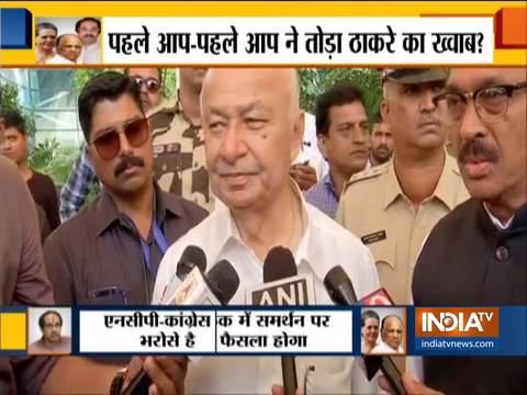 सुशील कुमार शिंदे ने कहा कि कांग्रेस के देर से आने का कोई मुद्दा नहीं है, हम शुरू से ही सतर्क रहे हैं