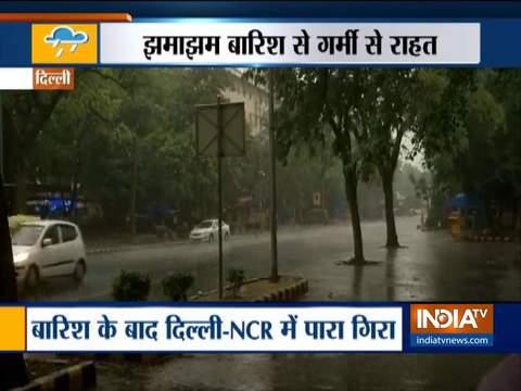 दिल्ली-एनसीआर में मौसम हुआ सुहाना, सुबह की बारिश ने दी भीषण गर्मी से राहत