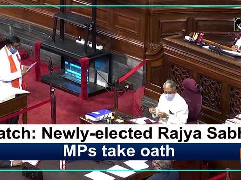 Watch: Newly-elected Rajya Sabha MPs take oath