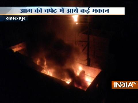 Car accessories godown catches fire in Saharanpur