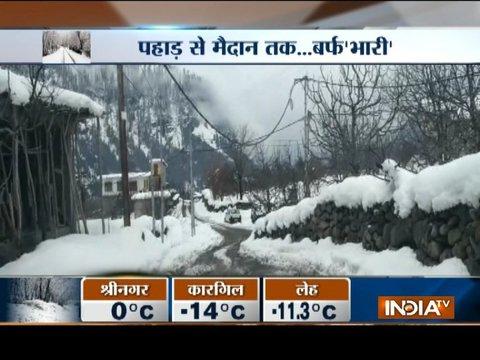 Snowfall in Kashmir Valley and Himachal Pradesh
