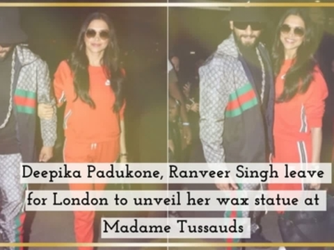 Deepika Padukone, Ranveer Singh leave for London to unveil her wax statue at Madame Tussauds