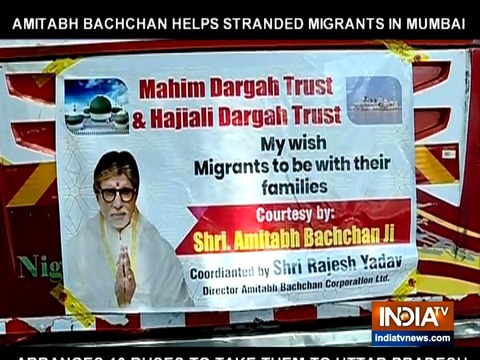 Amitabh Bachchan helps send migrant workers home in UP