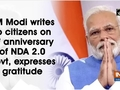PM Modi writes to citizens on 1st anniversary of NDA 2.0 govt, expresses gratitude